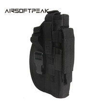 AIRSOFTPEAK Tactical Molle Pistol Holster for Right Hand Military Straps Rifle Pouch Hunting Bags Tactical Gear Gun Holster ^