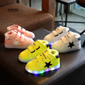Koovan Children Light Shoes New 2017 Stars Children's Shoes Baby Fashion Sneakers Lighted Warm Boots Girls Boys Sneakers Broad