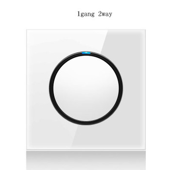 1 2 3 4 gang 2 way White Tempered glass switch Light pressure Wall Switch With LED lights France Germany socket household USB 20