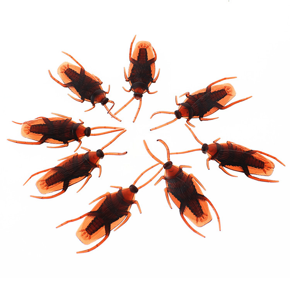 10pcs/pack Fake Cockroach 10 PCs Life-like Creepy Halloween Prank Trick Roach Bugs Toys New