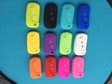 Pusakieyy 새로운 실리콘 3 버튼 원격 플립 키 케이스 fob 커버의 1 pcs 포드 카 3 버튼 원격 키 쉘을위한 보호 홀더