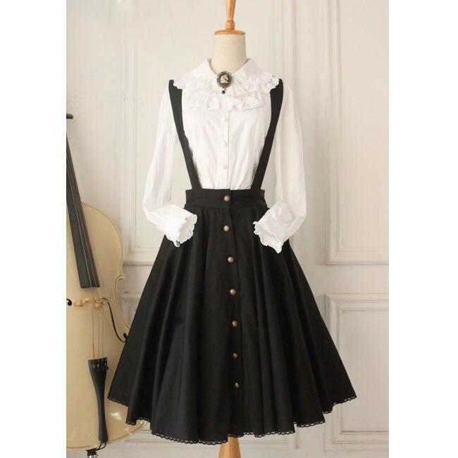 Custom Tailored ~ Vintage Women's Jumper Skirt Gothic A line Skater Skirt by Miss Point