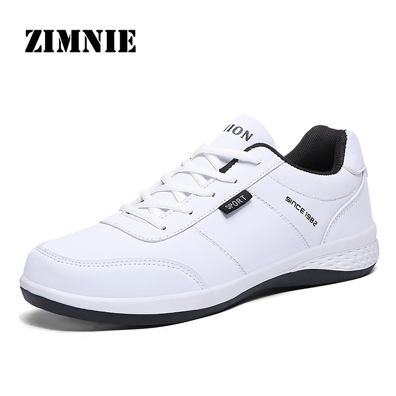 ZIMNIE Brand High Quality PU Leather Men Flat Shoes Men Handmade Comfortable Walking Shoes Super Light Footwear Size 38~45