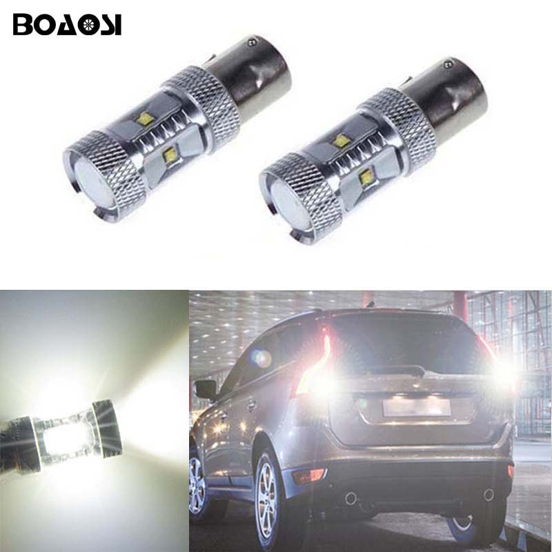 BOAOSI 2x 1156 P21W 30W High Power Car LED <font><b>Rear</b></font> Reversing Tail Bulb For <font><b>volvo</b></font> xc90 xc60 v70 <font><b>s80</b></font> s40 v60 c30 v50 image