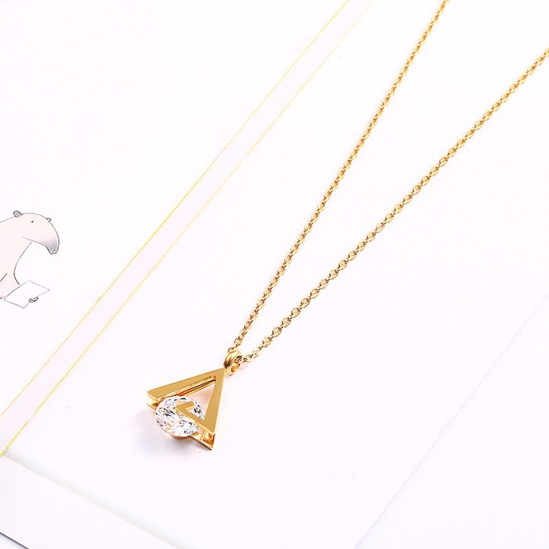 RIR Elegant Bridal Jewelry Sets Celebrity Engagement Crystal Triangle Necklace And Earrings Jewelry Set More For
