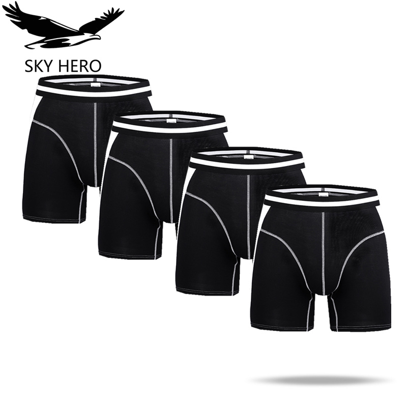 4pcs/lot SKY HERO Brand Men's Underwear Sexy Boxers Mens Boxer Shorts Hommes Comfortable Hombre Man Underpants Male Calzoncillos