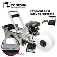 ZONESUN LT 50D Semi Automatic Labeling Machine Drugs Bottle Medicine Bottle Labeling Machine With Date Printer Printing