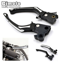 LS 016 BK CNC Motorcycle Adjustable Deep Cut CNC Aluminum Brake Clutch Levers For Harley Sportster XL883 XL1200 2004 2013