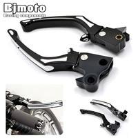 LS 016 BK CNC Motorcycle Adjustable Deep Cut CNC Aluminum Brake Clutch Levers For Harley Sportster