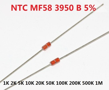 Free Ship 20pcs Thermal Resistor NTC MF58 3950 B 5%  1K 2K 5K 10K 20K 50K 100K 200K 500K 1M 1/2/3/5/10/K Ohm R Thermistor Sensor - sale item Passive Components