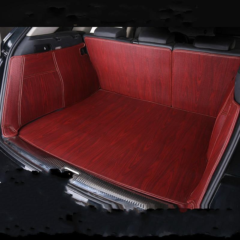 Full Covered Wood Grain Waterproof Boot Carpets Durable Custom Car Trunk Mats for Skoda Octavia RS Yeti Superb Kodiaq Karoq