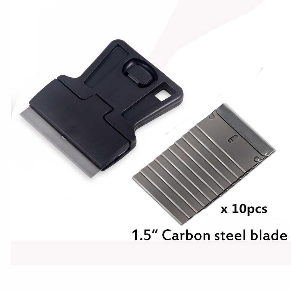 FOSHIO eski araba yapışkan film tutkal kaldırma jilet kazıyıcı + 10 adet bıçak temizleme çekçeki pencere folyo tonu otomatik vinil sarma araçları