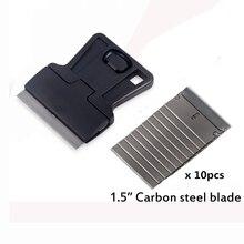 Foshio carro velho adesivo filme remoção de cola raspador lâmina + 10 pçs lâmina de limpeza rodo janela folha matiz auto vinil embrulho ferramentas
