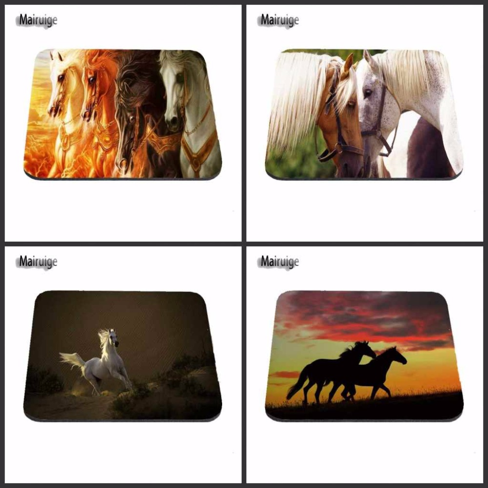 Luxury Beautiful Cool Horse Gaming Mouse Pad Size 180X220X2MM 250X290X2MM And 25*20cm Lasting Computers and Laptops Mouse Pad