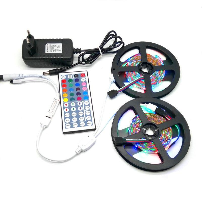10M SMD 3528 RGB LED лента комплект с 44Keys IR - LED осветление