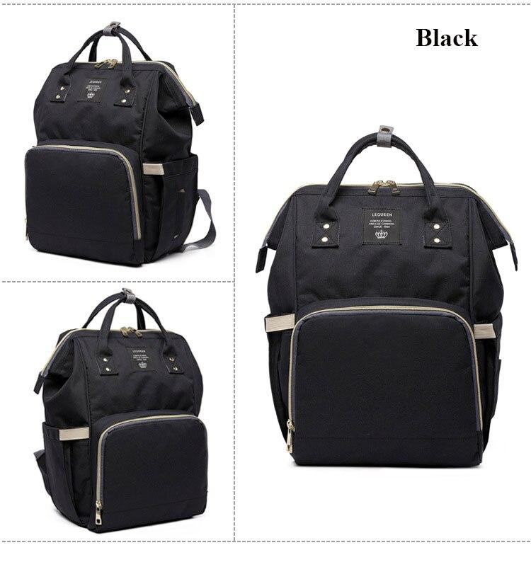 Fashion Mummy Maternity Nappy Bag Large Capacity Baby Bag Travel Backpack Nursing Bag for Baby Care Nappy Hand Bag