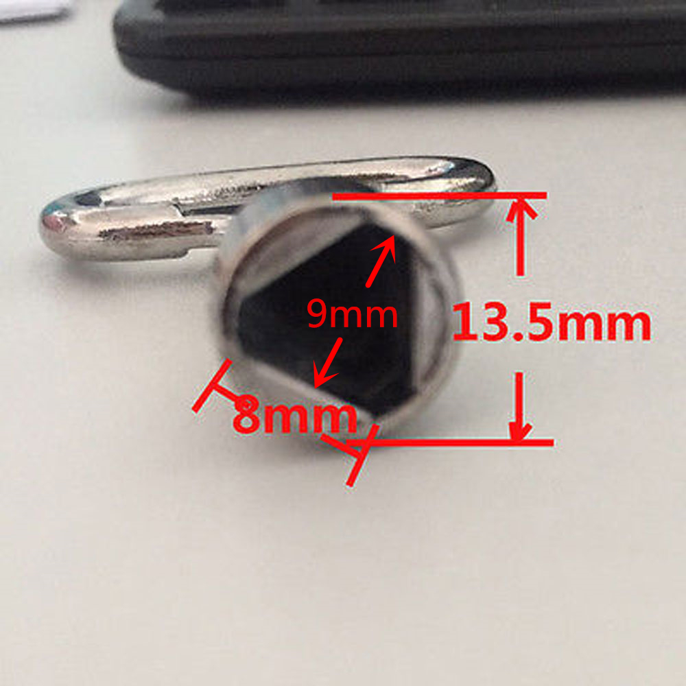 2 52mm 78mm Triangular Socket Spanner Wrench Key for 9x8mm or 9mm Panel Lock
