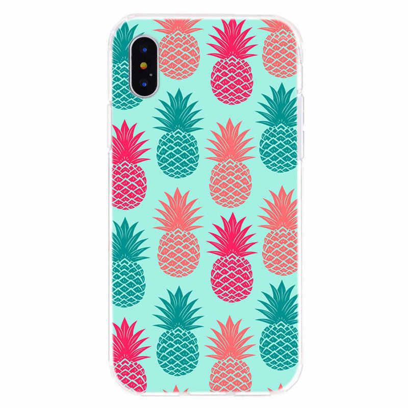 Verano fruta, piña, sandía del fundas de teléfono suave para iPhone6 7 8 plus XS Max X XS X XR caso I052
