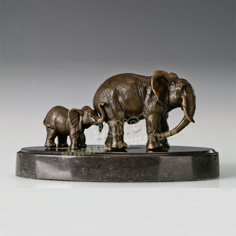 ATLIE Bronze Mother and Child Elephant Sculpture Bronze Animal Statue and Figurine for Home DecorationATLIE Bronze Mother and Child Elephant Sculpture Bronze Animal Statue and Figurine for Home Decoration