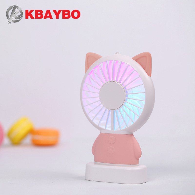 2018 USB cooler Fan Mini USB Fan cool air conditioner rechargeable fan protable desk Fan for laptop desktop Computer home office