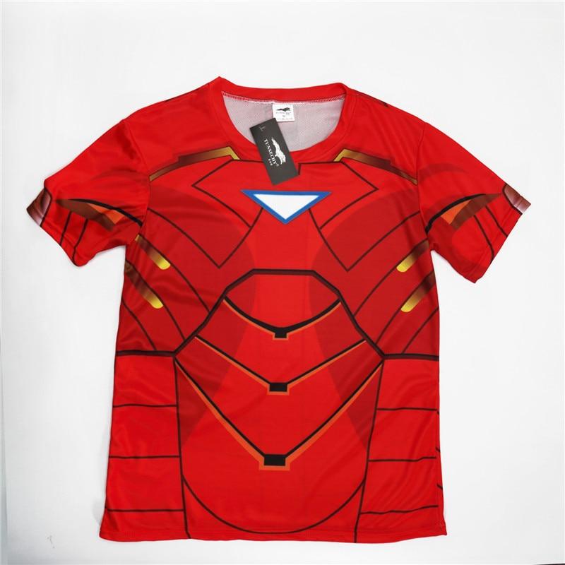 Batman Spiderman Ironman Superman Captain America Winter soldier T shirt Avengers Costume Comics Superhero mens 122
