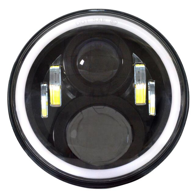 2PCS/Pair 7 Inch 60W Round LED Light Car Light Souce Angel Eyes Halo Ring Auto Headlight For Jee--p Wrangler JK CJ DC10-30V 7 60w round car led headlight with halo angel eye