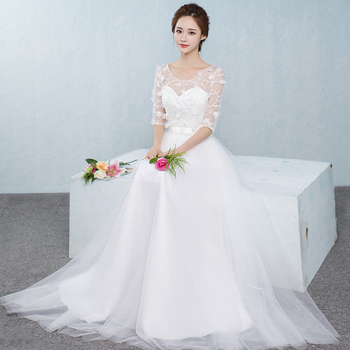 2017 new Bridesmaid Dresses plus size stock cheap white chiffon sexy romantic sister simple elegant fashion long JYX843CB