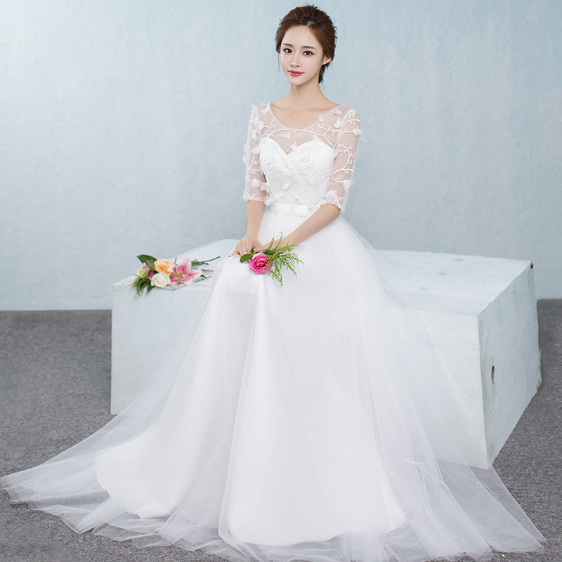 2017 new   Bridesmaid     Dresses   plus size stock cheap white chiffon sexy romantic sister simple elegant fashion long JYX843CB