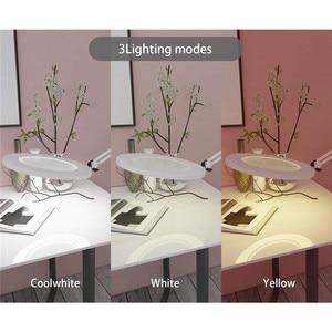 """Image 4 - Led拡大鏡テーブルランプ金属クランプスイングアームデスク無段階調光3色7ワット拡大鏡ライト3X、4.1 """"直径レンズ建築家"""
