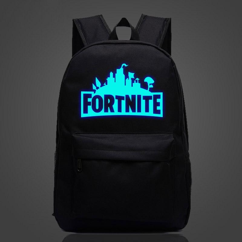 Luminous Big Size Game Fortnite Battle Royale Backpack Kids Gift Bag Laptop Backpacks Shoulder Bags Book Rucksacks Figure Toys