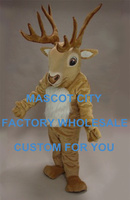 Forest Animal Mascot DEER Reindeer MASCOT Costume Suit Halloween Prop Adult Fancy Dress Cartoon Outfit Free Shipping SW859