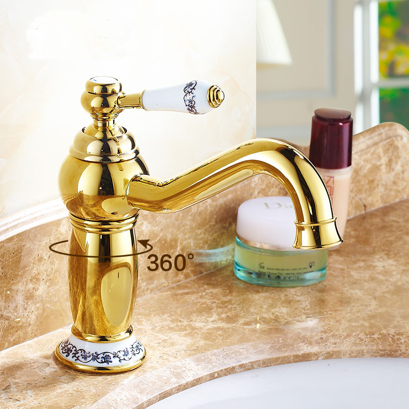 Retro Magic Lamp style bathroom sink basin faucet hot and cold, Antique brass wash basin faucet mixer water tap vintage 4 colors 7 types antique brass sink basin faucet retro bathroom single hole basin faucet vintage gold plated cold and hot water tap mixer