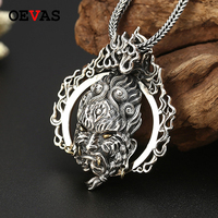 Retro Thai Silver punk Rock Style Pendants 925 Sterling Silver Big and Heavy Pendant necklaces men S925 Silver jewelry Wholesale