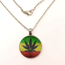 YSDLJG Maple leaves National flag Glass Cabochon Buddhist Pendant High Quality Necklaces For women Jewelry gift
