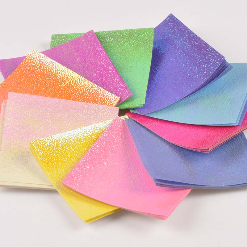 Folding Colorful Origami Craft Paper Square Sheet DIY Making Scrapbooking Gift