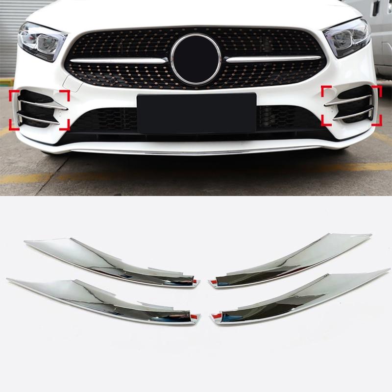 Abs Auto Car Acessórios Exterior Fonte Fog Lâmpada Luz Capa Trims para Mercedes-Benz UMA Classe-W177 2019 2020