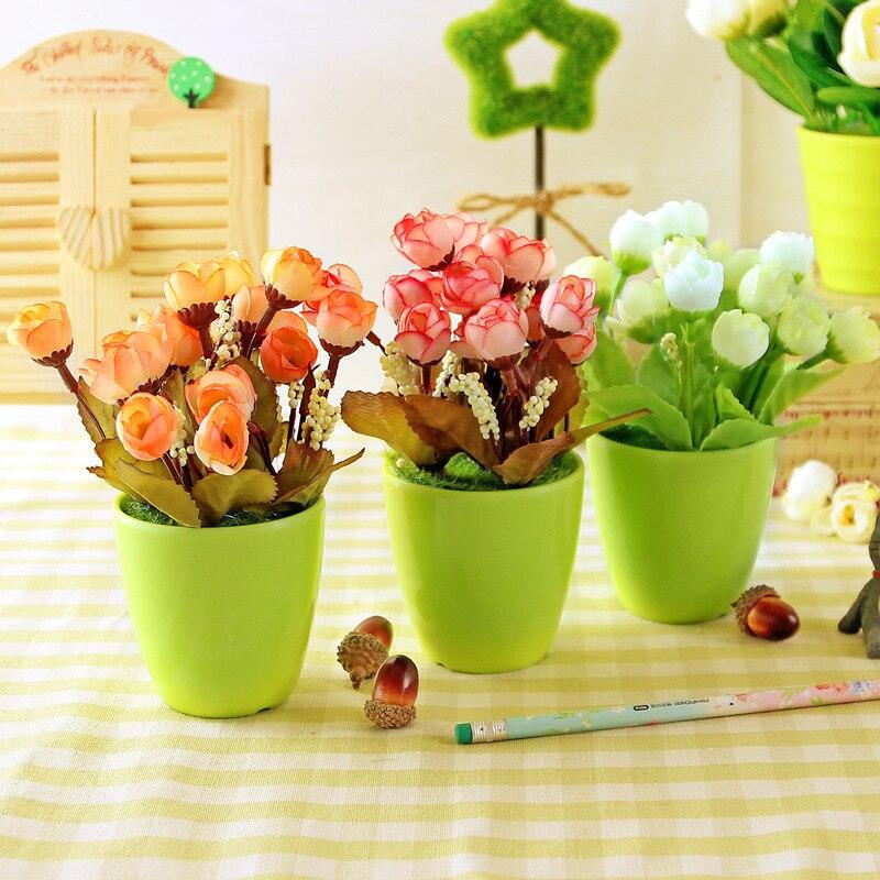 Flores artificiales Aumentaron Decoración de Seda de Flores Decorativas Decoraci