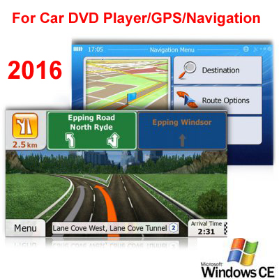 8GB Micro SD Card Car GPS Navigation 2016 Map software for Europe,Italy,France,UK,Netherland,Spain,Turkey,Germany,Austria etc.