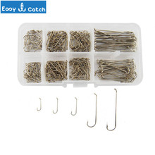 Easy Catch 79580 High Carbon Steel Fishing Hooks Offset Fly Tying font b Fishhooks b font