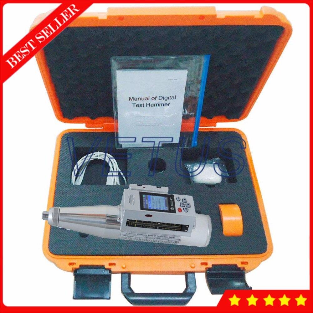 HT225-W + Intégré Voix Numérique Schmidt scléromètre à béton avec 408000 résultats des tests de stockage de Données HT-225W +