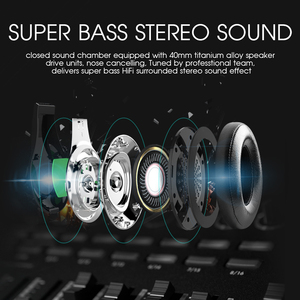 Image 3 - ZEALOT B19 Wireless Headset Bluetooth Headphone Stereo Bass Earphone Support Micro SD Card AUX Radio Microphone