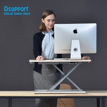 New Height Adjustable Sit Stand Up Desk Aluminum Lapdesk for Monitor and Laptop to in Seconds ID-30