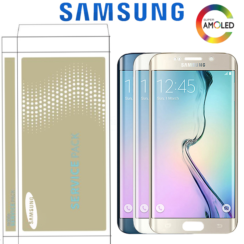 Original 5.1'' LCD Display For Samsung Galaxy S6 Edge G925F SM-G925F G925 G925i Touch Screen Digitizer Replacement With Frame