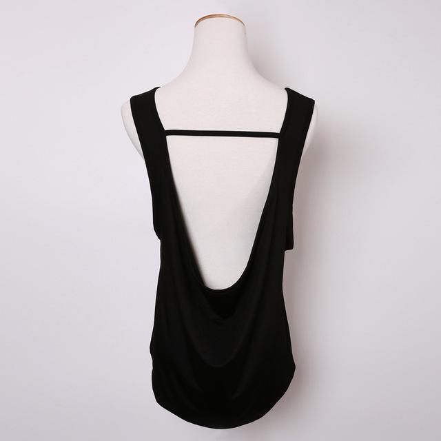 Camiseta sin mangas suelta para mujer