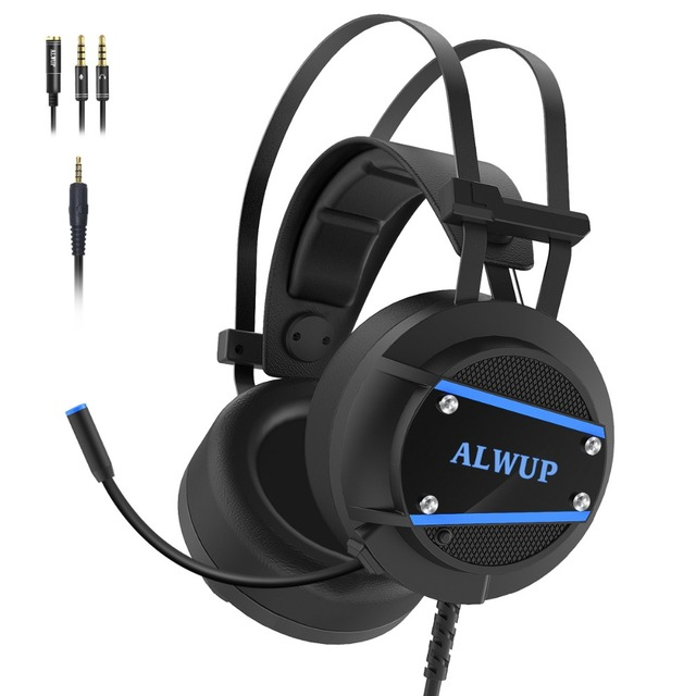 ALWUP A9 Gaming Headset PS4 Xbox One for computer with Microphone Headphone with Mic