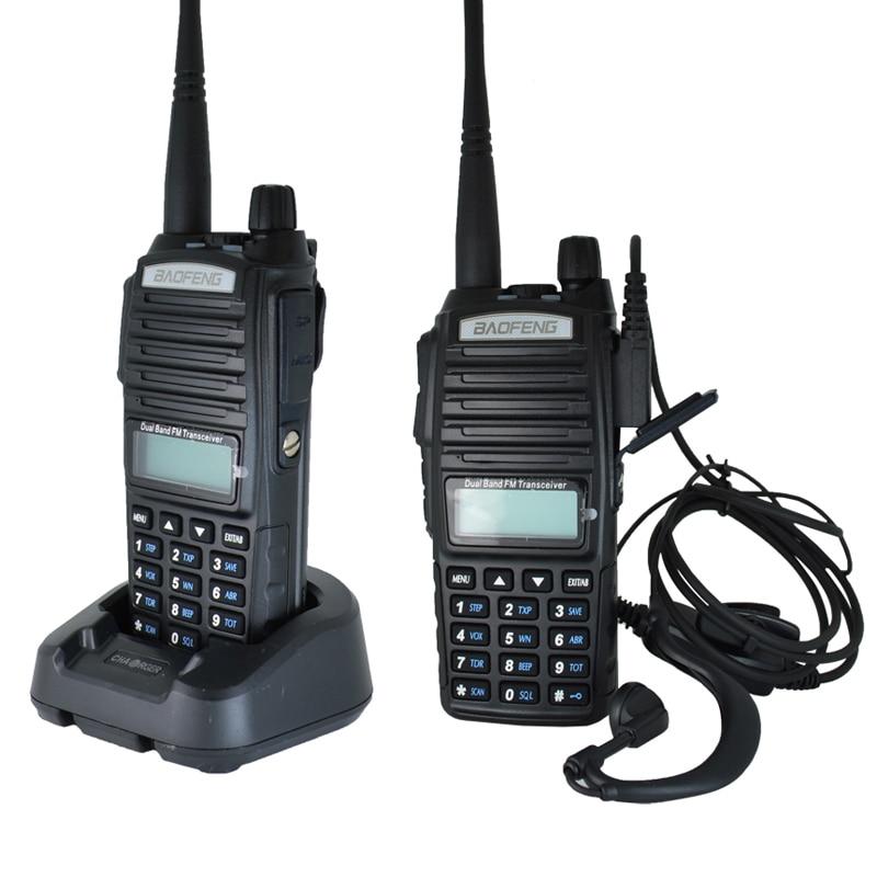 2 pièces baofeng uv-82 8 W portable talkie-walkie longue portée 10 km vhf/uhf bi-bande jambon radio station uv 82 émetteur-récepteur de chasse - 4