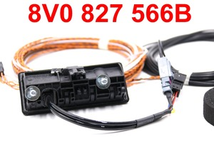 Image 2 - For Audi A3 8V Facelift MIB UNIT 8V0 827 566 B 5Q0980556B Rear View Camera Trunk handle with High Guidance Line Wiring harness