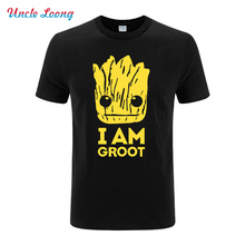 2016 Summer New Printed Guardians of the Galaxy T Shirt Men Short Sleeve Cotton I Am fashion T Shirts Top Tees Shirt