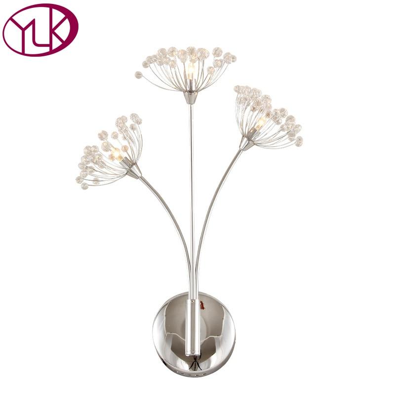 Moderne Einfache Kristall Wandleuchte Gang Lampe Nachtwandleuchte Wohnzimmer Leuchte Schlafzimmer Esszimmer LED WandleuchteChina
