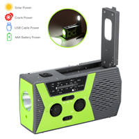 Rechargeable LED Floodlight Portable Spotlight Outdoor Camping Lamp Projector Work Light Power Bank Light with NOAA Radio